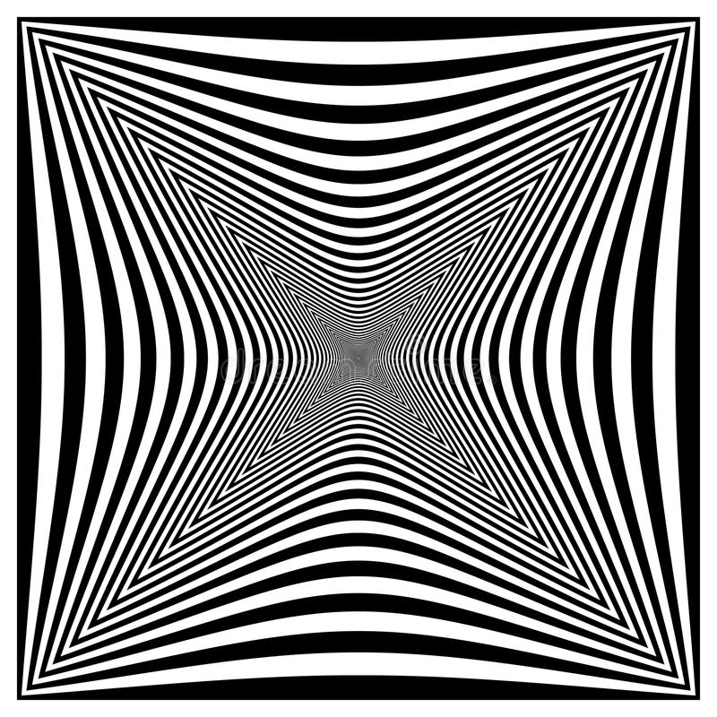 Forma distorcida contrasty abstrata ilustração royalty free