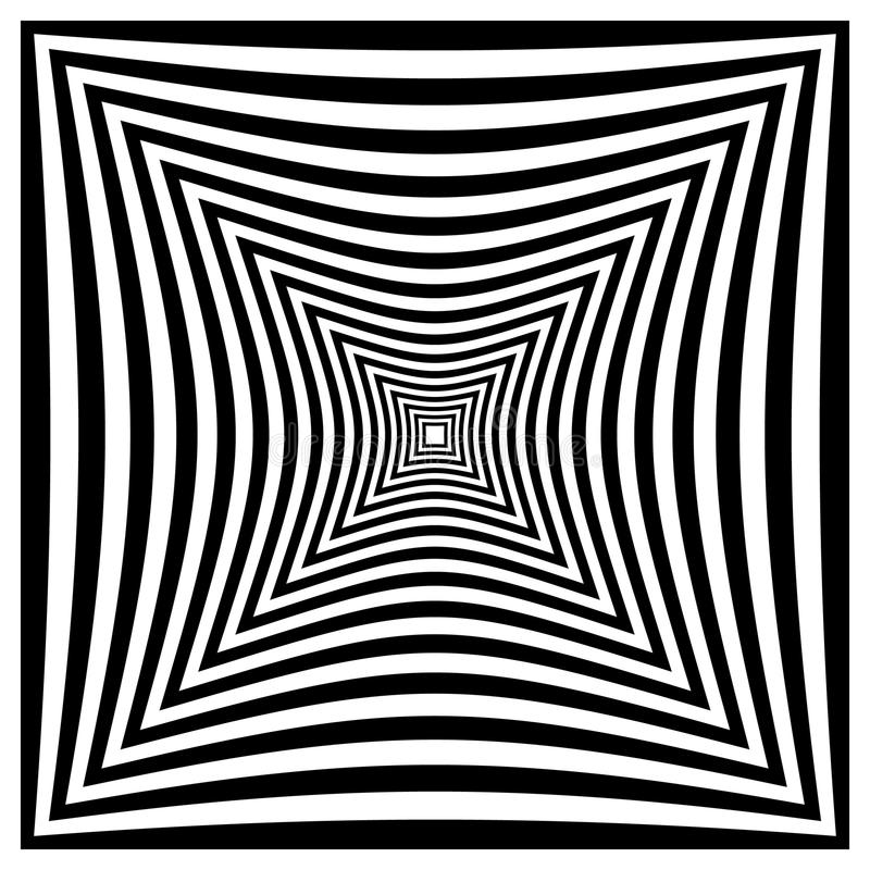 Forma distorcida contrasty abstrata ilustração stock