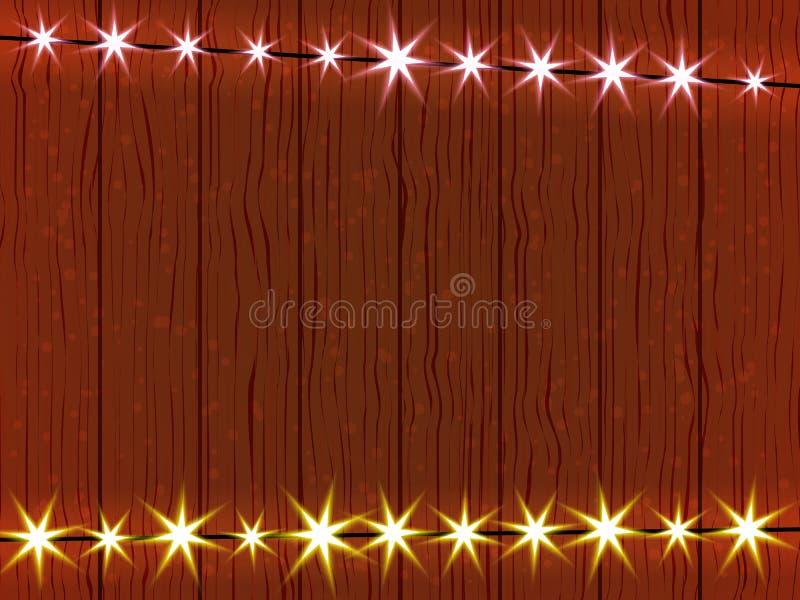 Forma dla twój biznesu na drewnianej ścianie i prześcieradle, ilustracja wektor