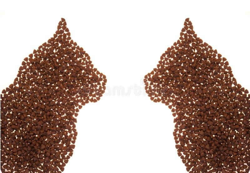 Forma do alimento de gato imagens de stock
