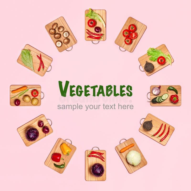 Forma do círculo dos legumes frescos imagem de stock