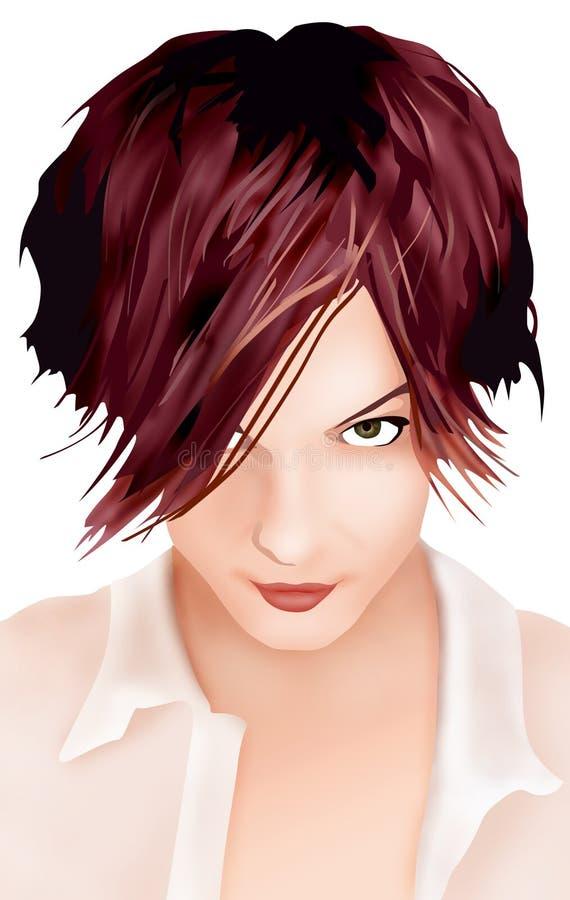 Forma do cabelo ilustração do vetor