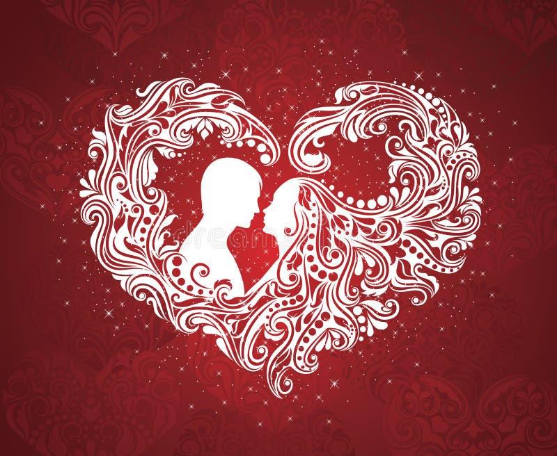 Forma do coração. ilustração royalty free