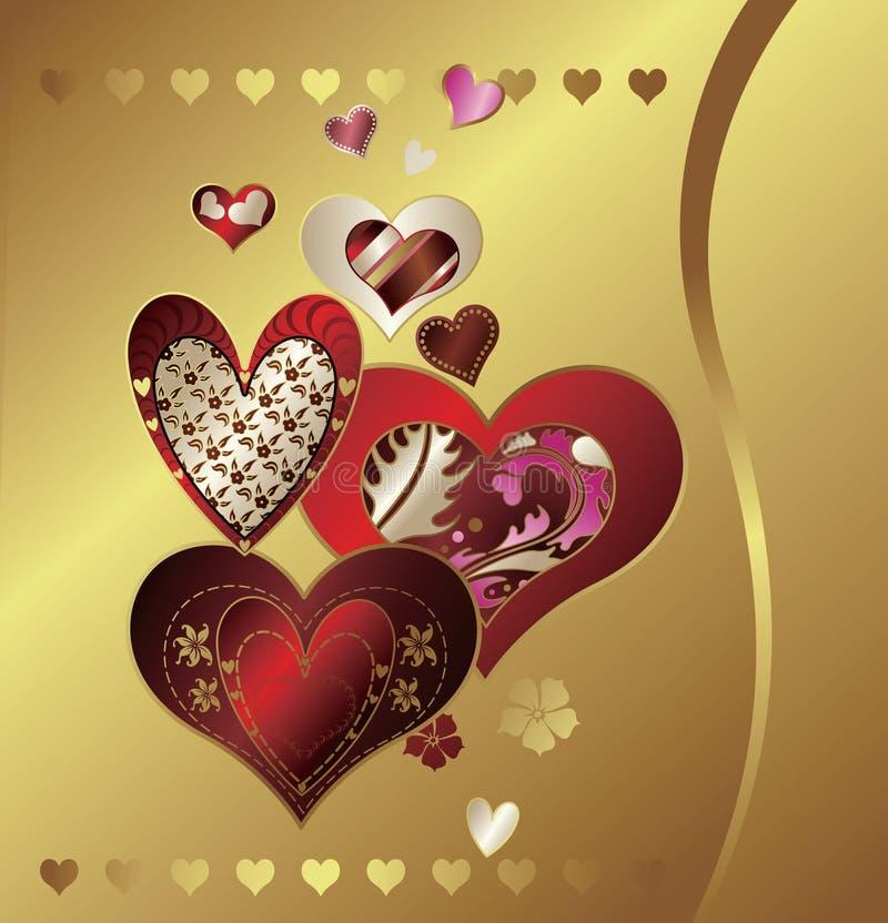 Forma do coração ilustração stock