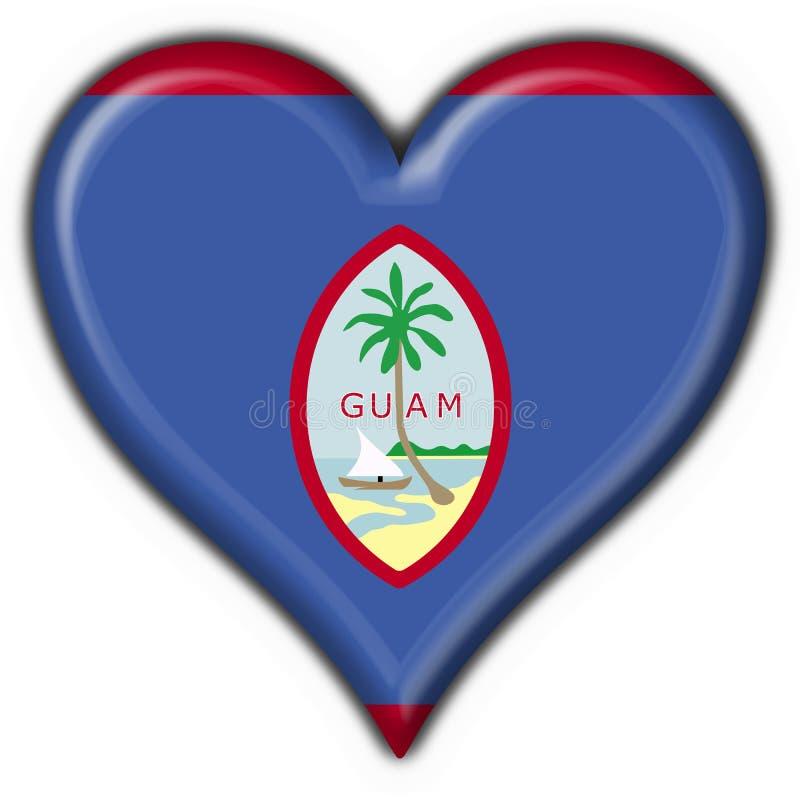 Forma do coração da bandeira da tecla de Guam ilustração stock