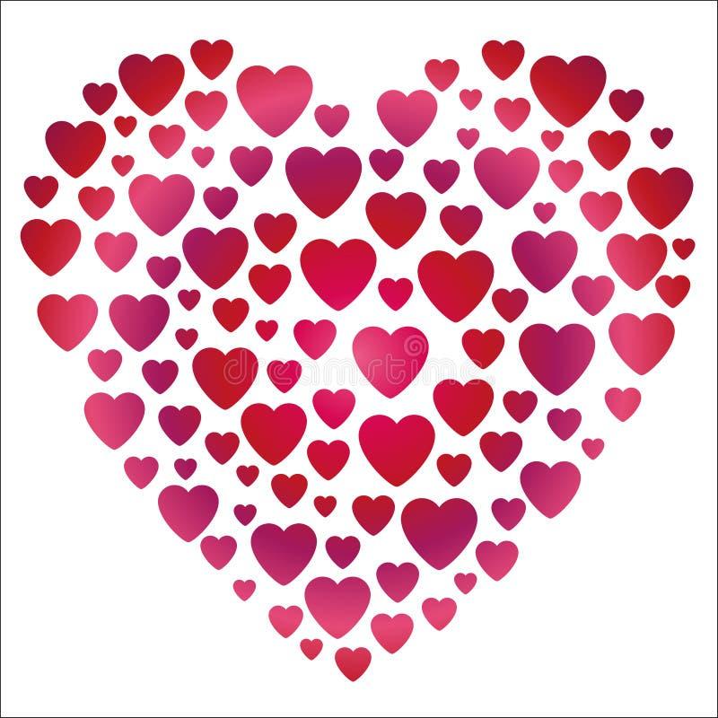 Forma do coração do inclinação do Valentim ilustração stock