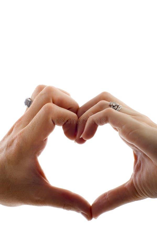 Download Forma Do Coração Feita Por Mão Foto de Stock - Imagem de cuidado, creatividade: 12802784