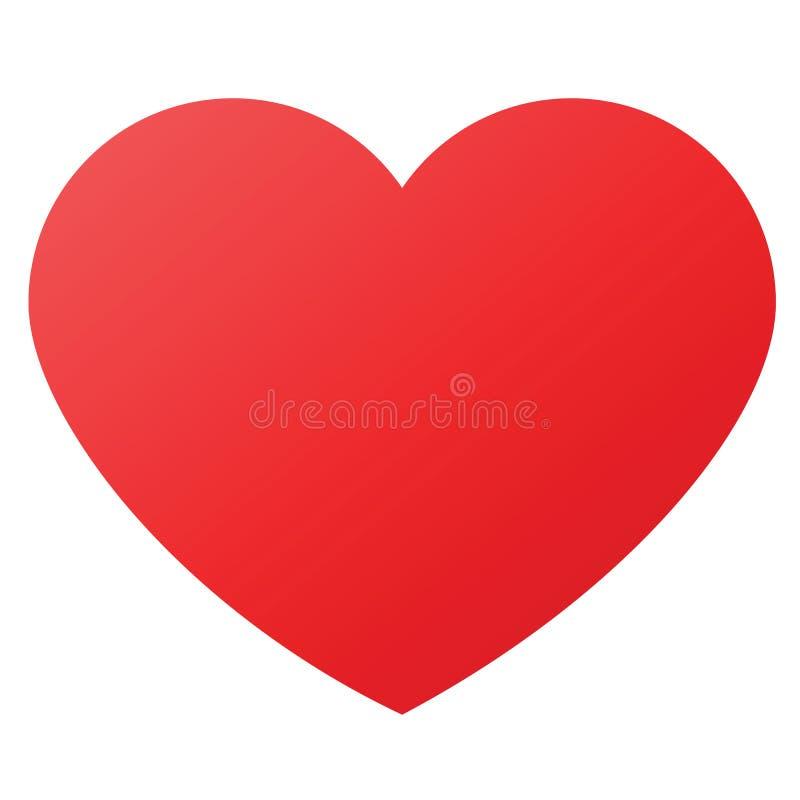 Forma do coração para símbolos do amor ilustração do vetor