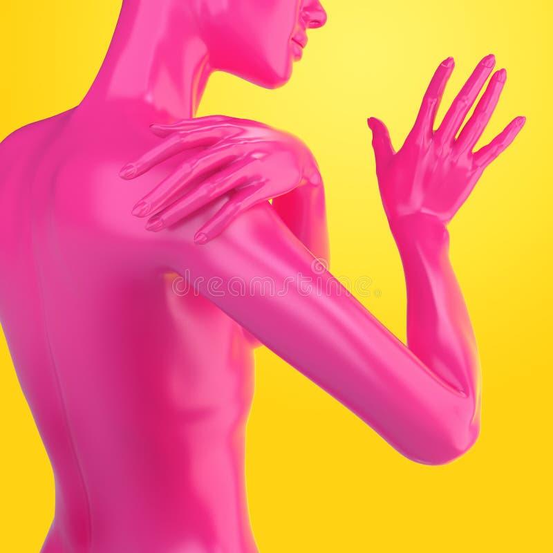 forma do corpo 3d fêmea ilustração stock