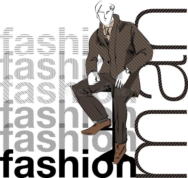 Forma do esboço & homem de negócio considerável ilustração royalty free