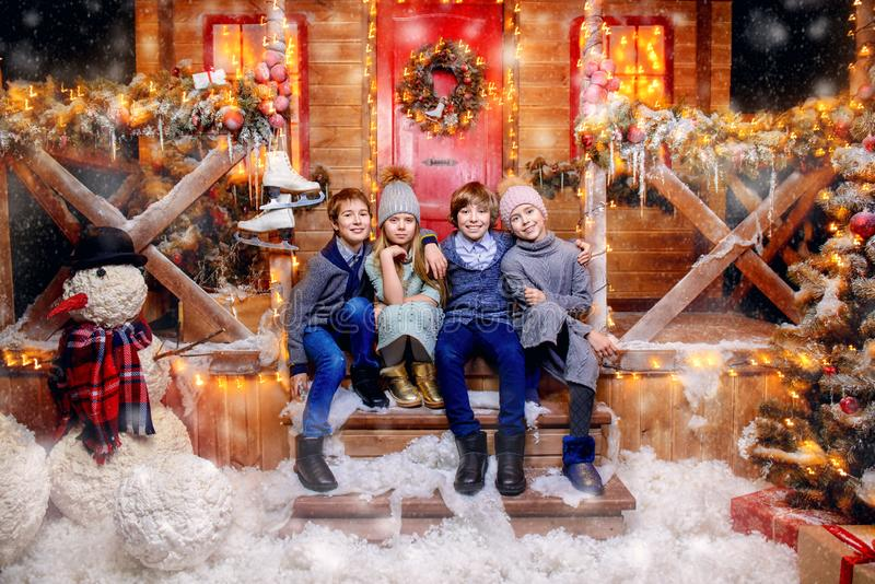 Forma do inverno e do Natal fotos de stock