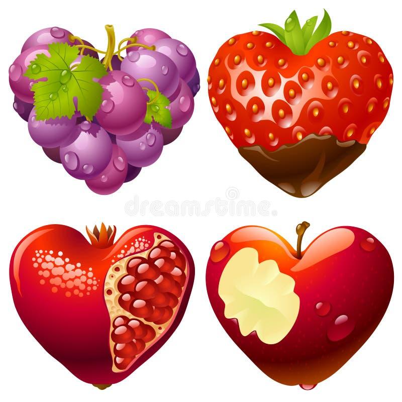 Forma do jogo 2 do coração ilustração royalty free