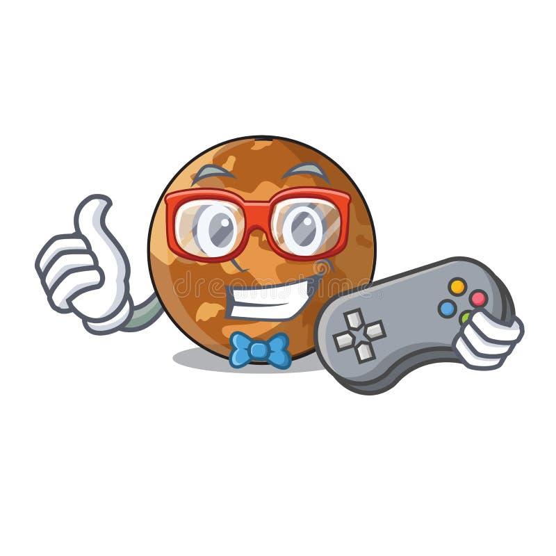 Forma do mercúrio do plenet do Gamer no caráter ilustração stock