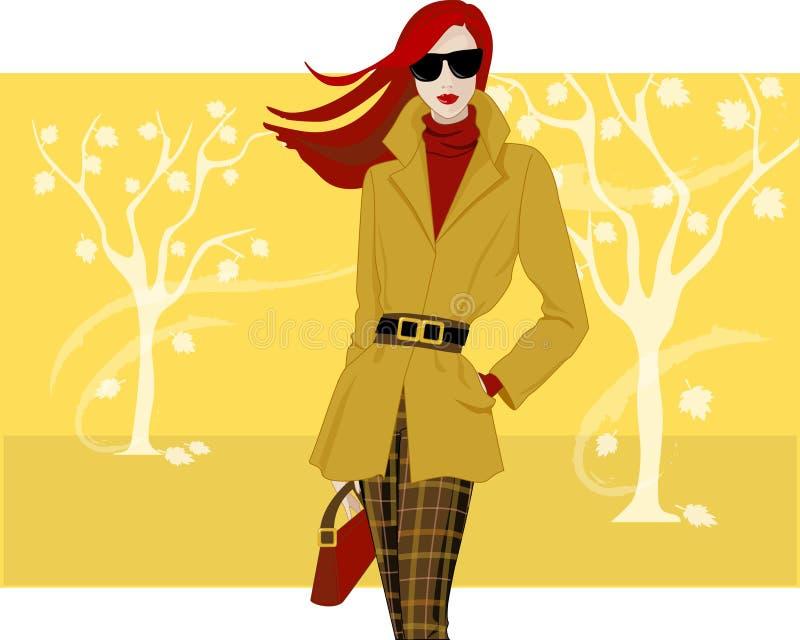 Forma do outono ilustração stock