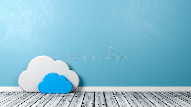 Forma do símbolo da nuvem na sala ilustração royalty free