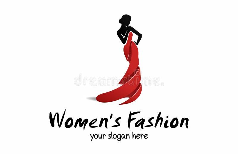 Forma do ` s das mulheres e beleza Logo Template ilustração do vetor