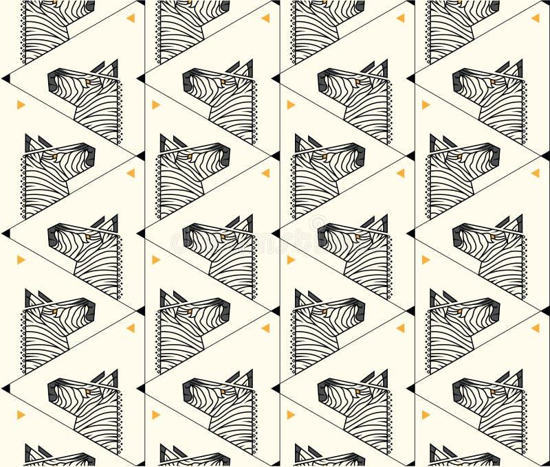 Forma do triângulo do teste padrão da zebra fotografia de stock royalty free