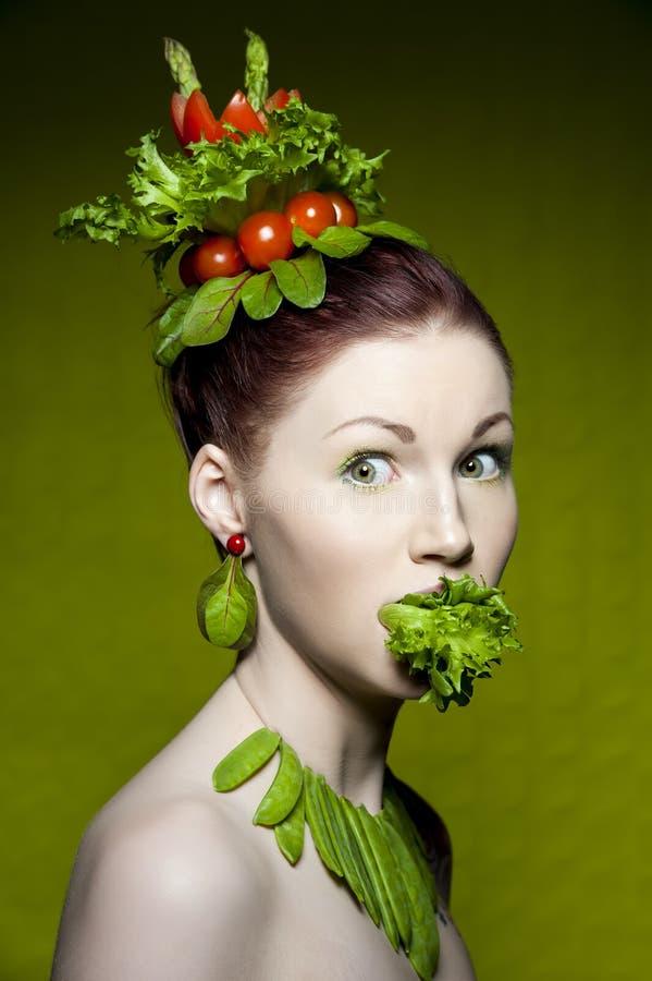 Forma do vegetariano imagem de stock