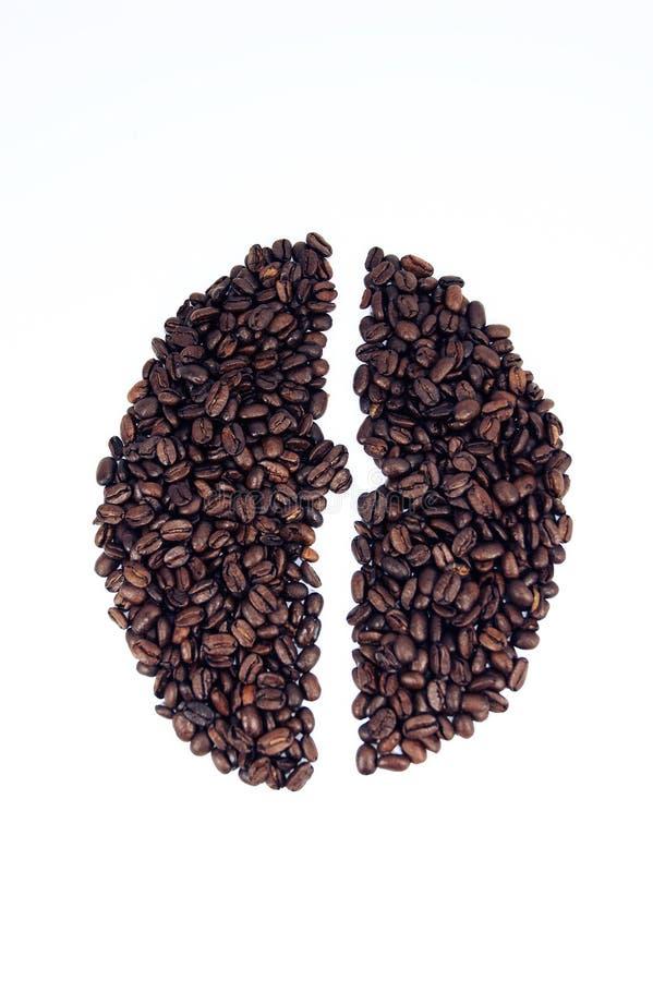 Forma dos feijões de café fotos de stock