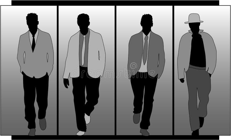 Forma dos homens ilustração do vetor