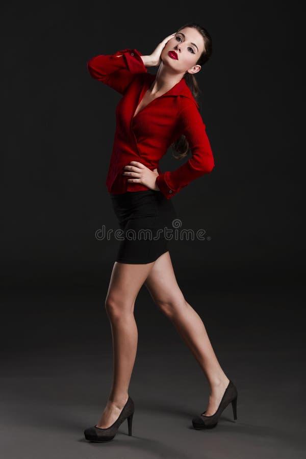 Forma e mulher 'sexy' foto de stock
