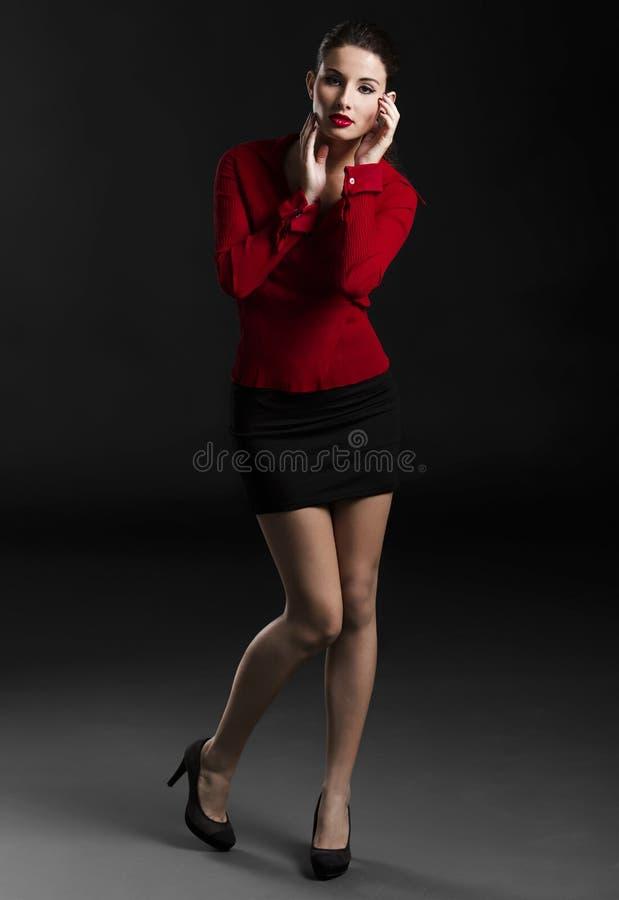 Forma e mulher 'sexy' imagem de stock royalty free