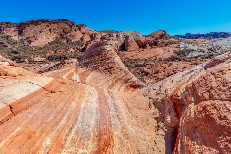 Forma??es de rocha no vale do parque estadual do fogo, Nevada EUA fotos de stock royalty free