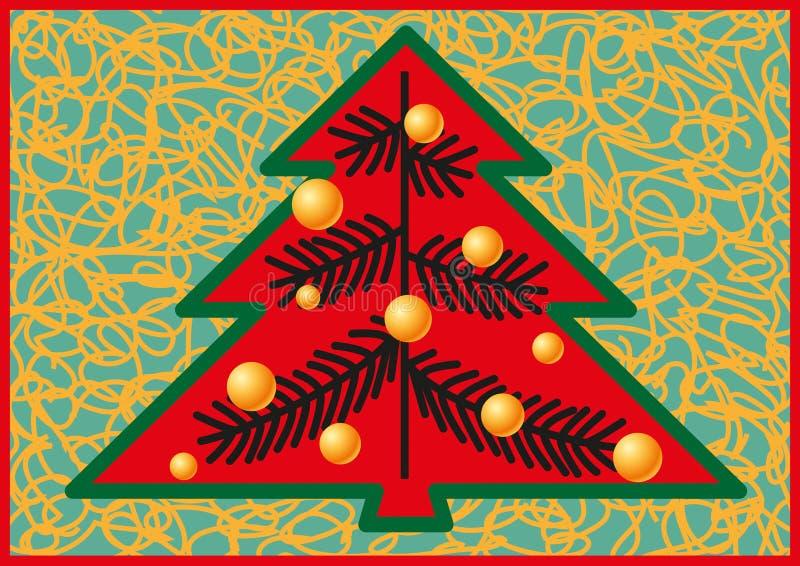 Forma estilizada de abetos de la Navidad libre illustration
