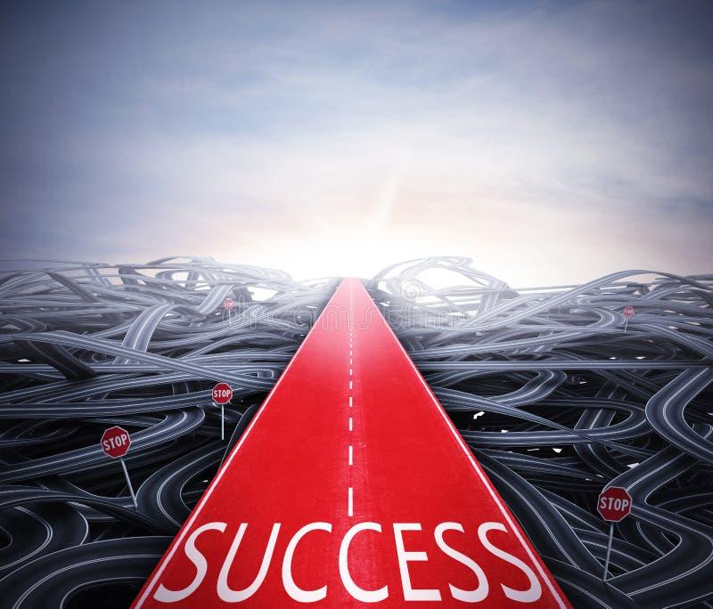 Forma facil ao sucesso ilustração do vetor