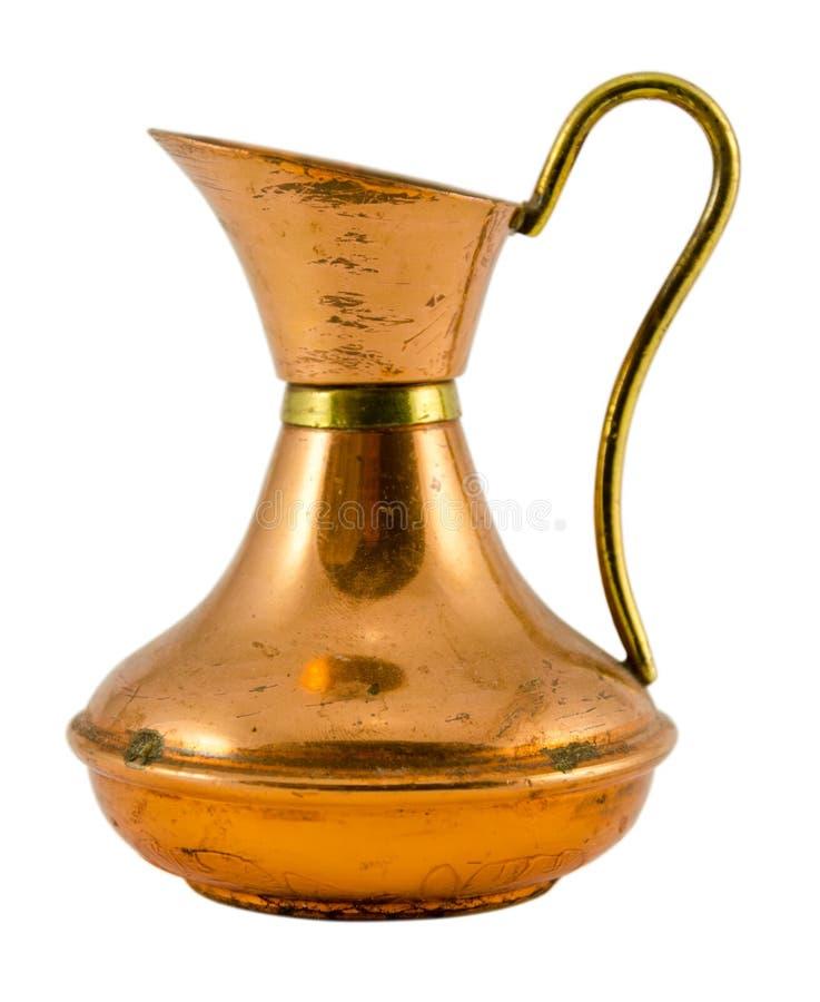 Forma fina de la jarra con la manija aislada en blanco foto de archivo libre de regalías