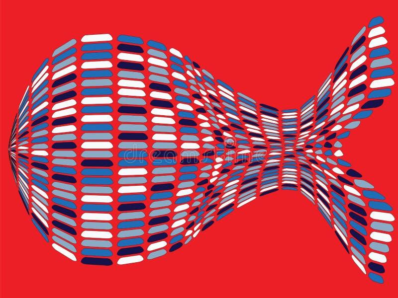 Forma Fishy ilustração stock
