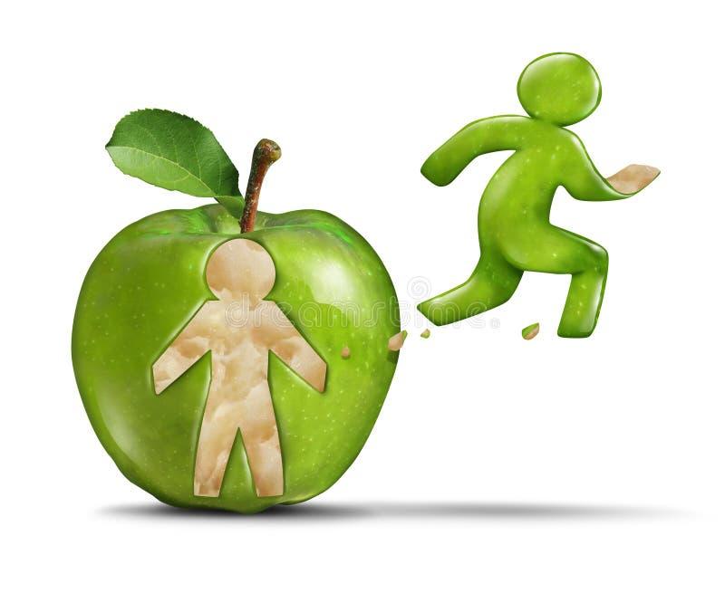 Forma fisica Apple royalty illustrazione gratis