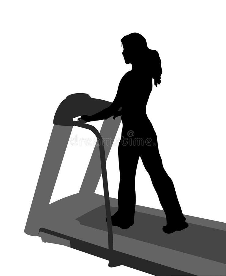 Forma fisica della ragazza di vettore illustrazione di stock