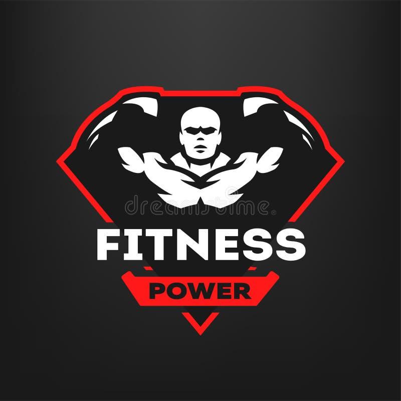Forma fisica di energia, logo di sport illustrazione vettoriale