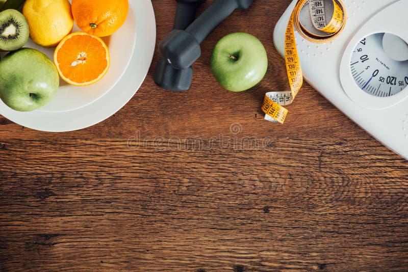 Forma fisica e perdita di peso fotografia stock