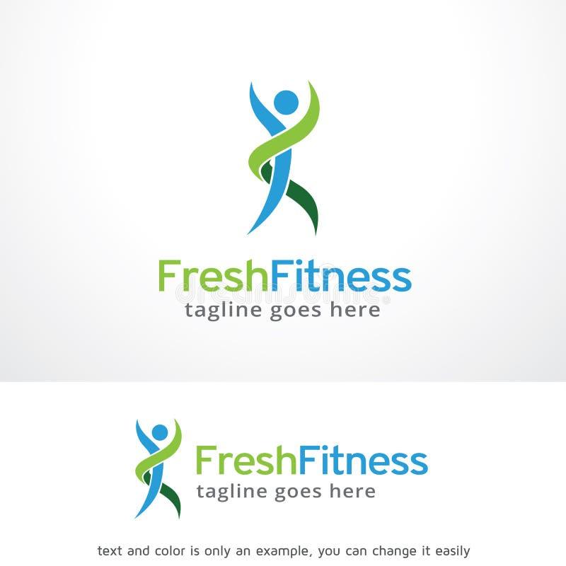 Forma fisica fresca Logo Template Design Vector, emblema, concetto di progetto, simbolo creativo, icona illustrazione di stock