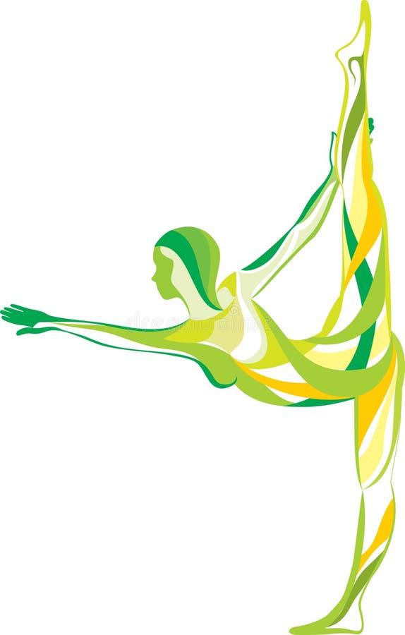 Forma fisica, yoga, sport royalty illustrazione gratis