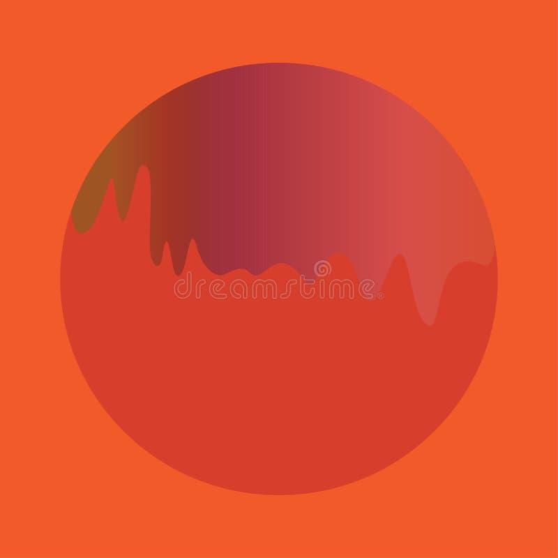 Forma fluida arancio rossa illustrazione vettoriale