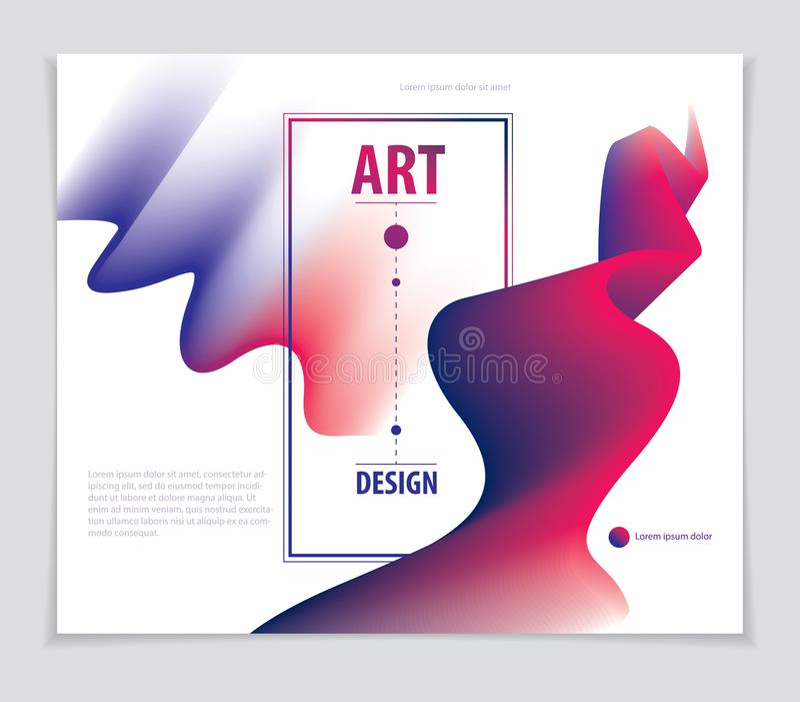 Forma fresca de la pendiente, dise?o futurista la forma 3d, vector arte abstracto Perfeccione para el carte cadeaux, la cubierta, ilustración del vector
