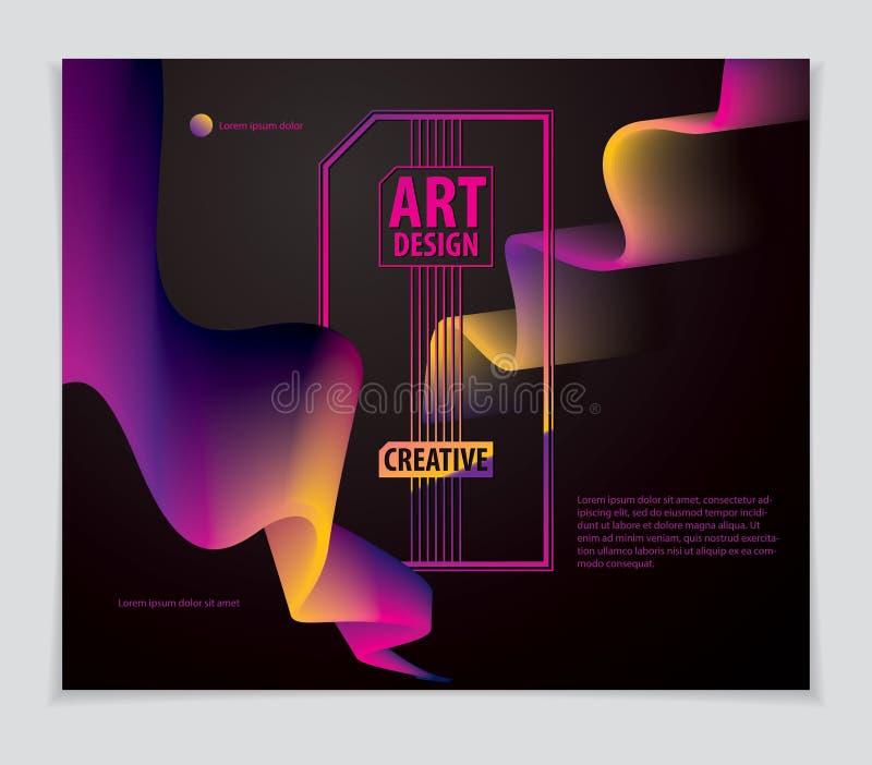 Forma fresca de la pendiente, dise?o futurista la forma 3d, vector arte abstracto Perfeccione para el carte cadeaux, la cubierta, stock de ilustración