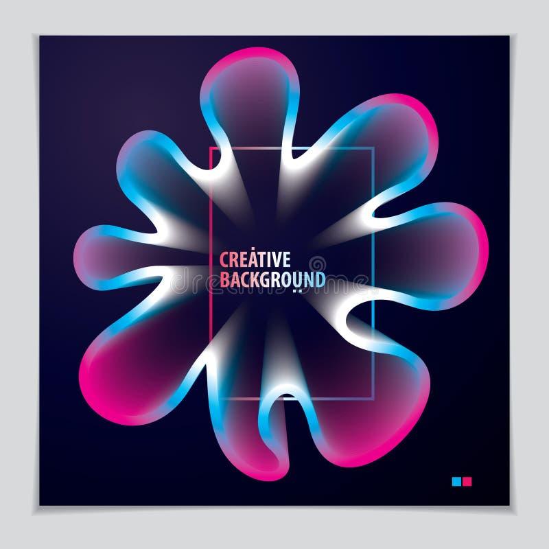 Forma fresca di pendenza, progettazione futuristica forma del fiore 3d, vettore royalty illustrazione gratis