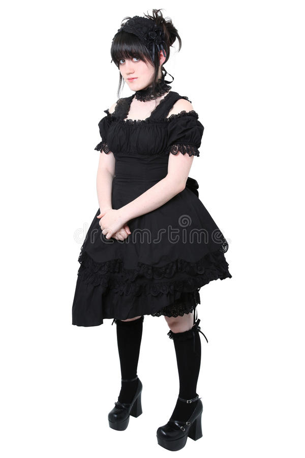 Forma gótico do japonês de Gosurori Lolita fotografia de stock royalty free