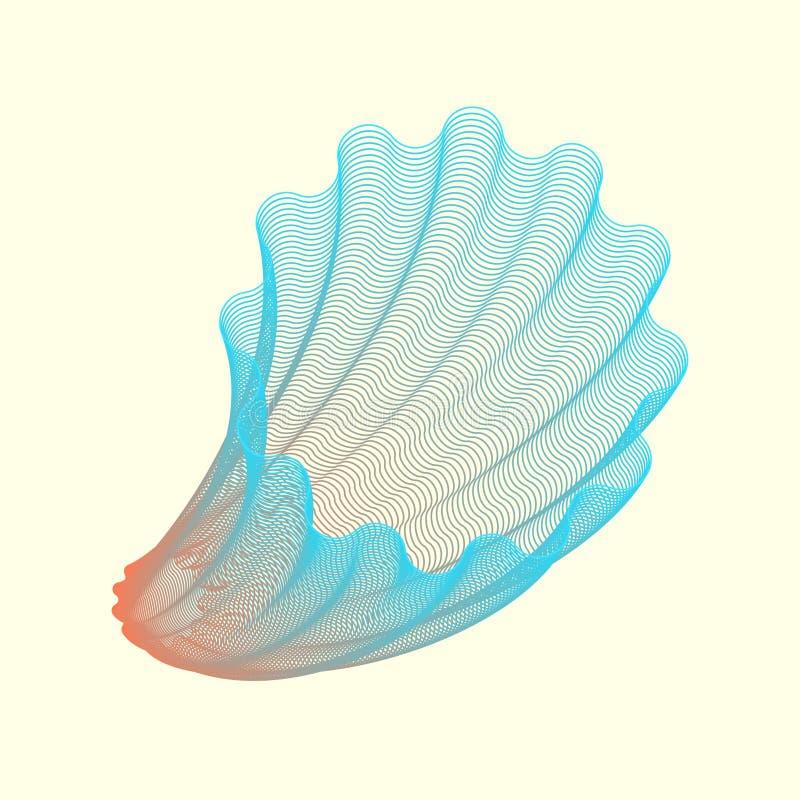 Forma geométrica abstrata do vetor ilustração stock