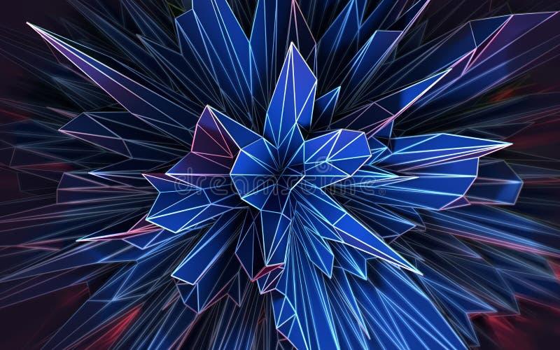Forma geométrica abstrata futurista ilustração do vetor