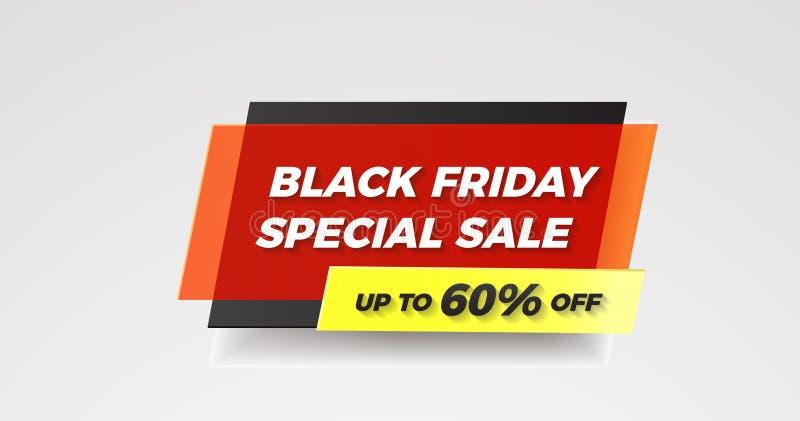 Forma geométrica de viernes de la bandera negra de la venta especial con ef plástico libre illustration