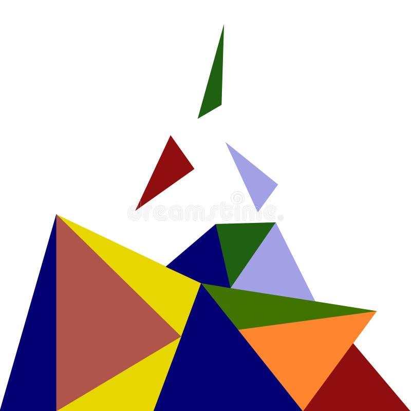 Forma geométrica, ilustração verde do vetor do projeto 3d ilustração stock