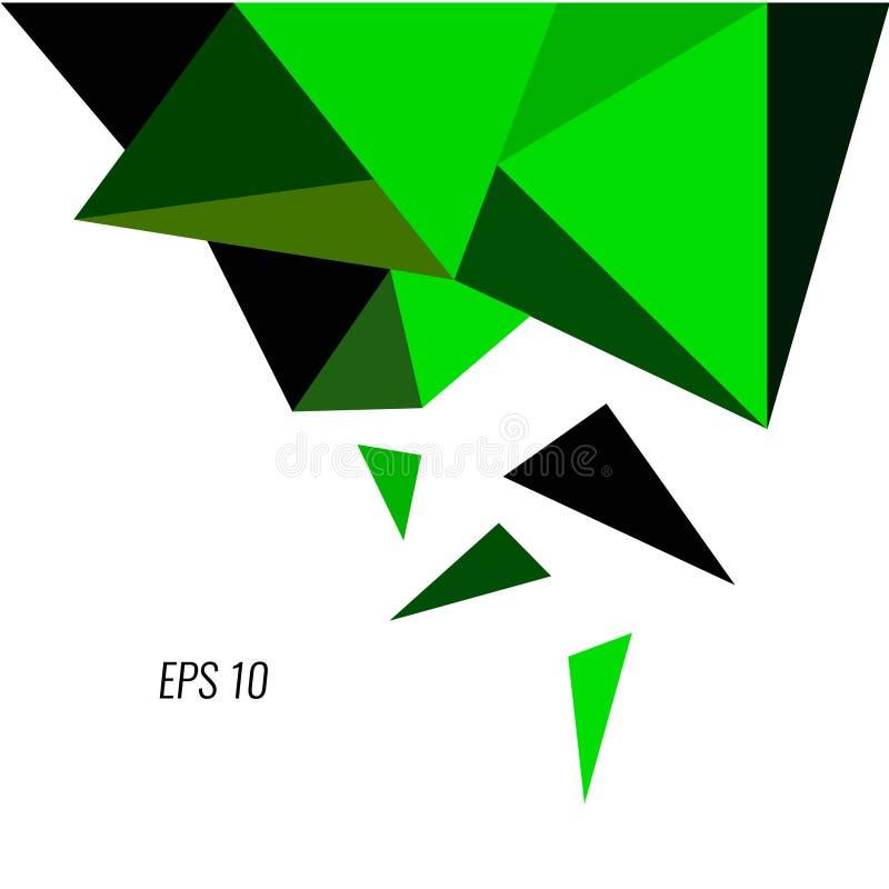 Forma geométrica, ilustração verde do vetor do projeto 3d ilustração do vetor