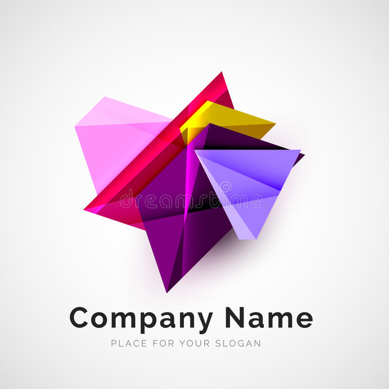 Forma geométrica, logotipo de la compañía libre illustration