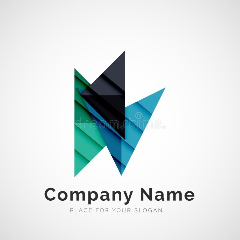 Forma geométrica, logotipo de la compañía ilustración del vector