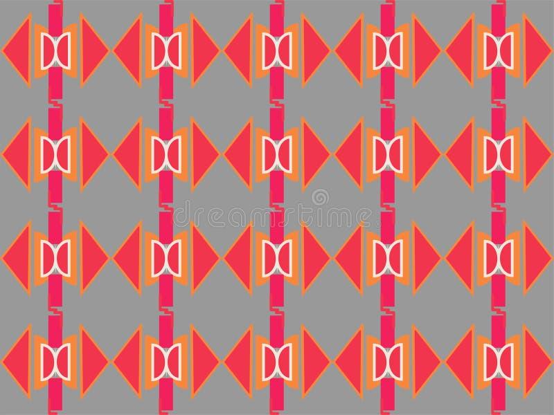 Forma geométrica padrão étnico local repetitivo ilustração royalty free